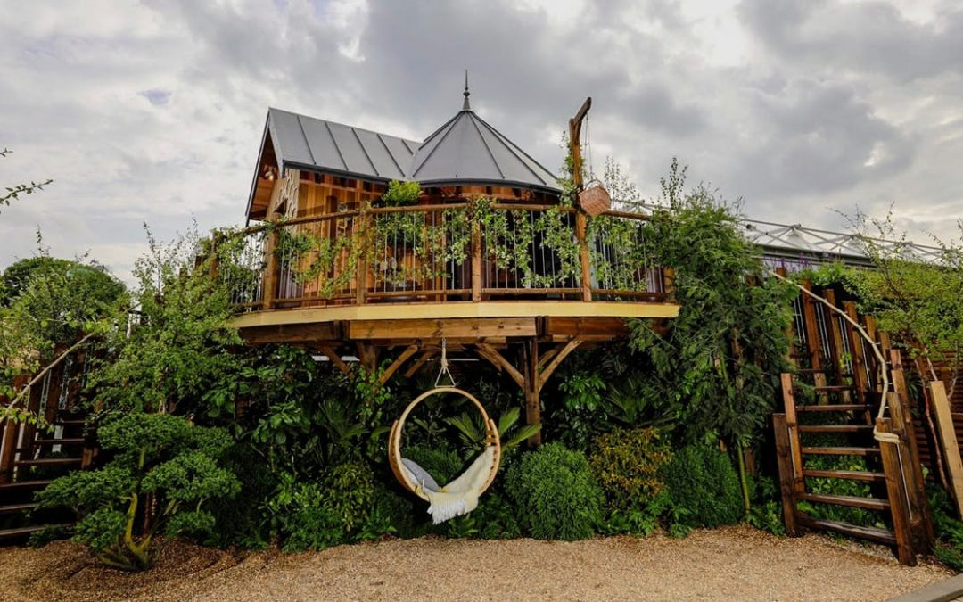 Luxury prefabricated treehouse revealed at the RHS Chelsea Flower Show