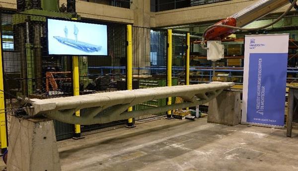 Researchers at Ghent University 3D Print Bridge with least Amount of Concrete