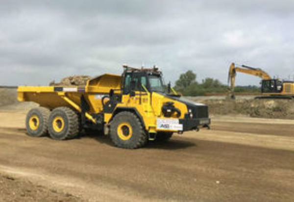 Driverless Dump Trucks Used for First time on A14 Site