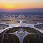 فرودگاهی به شکل دانه برف در چین