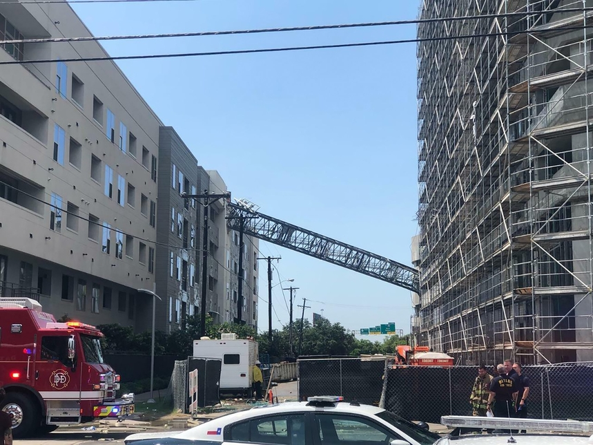 Dallas crane collapse investigation under way as one dead, five hurt