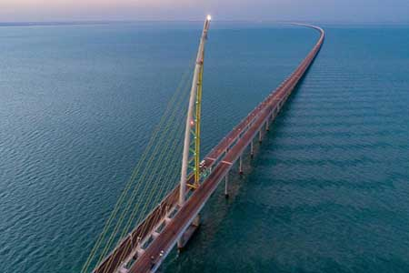 World's fourth longest sea-bridge established by Kuwait