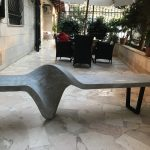 Badih Rameh's Twisted Concrete Bench