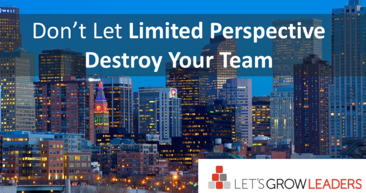 Don't Let Limited Perspective Destroy Your Team