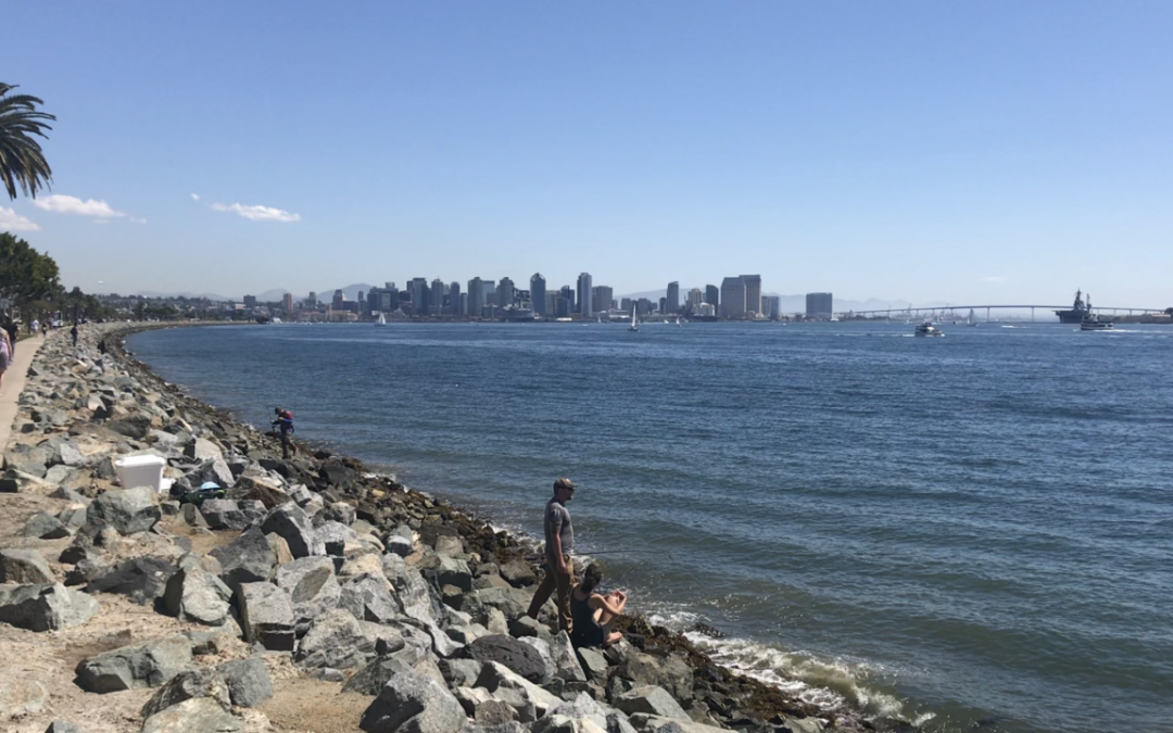 ConcreteTtide Pools Tested along Harbor Island in San Diego Bay
