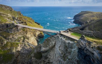 Cornish footbridge to Medieval Castle Doesn't Quite Meet in the Middle
