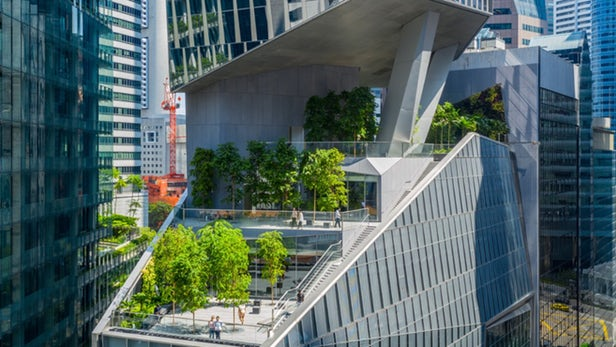 Singapore Tower Gives Back the Greenery it Takes