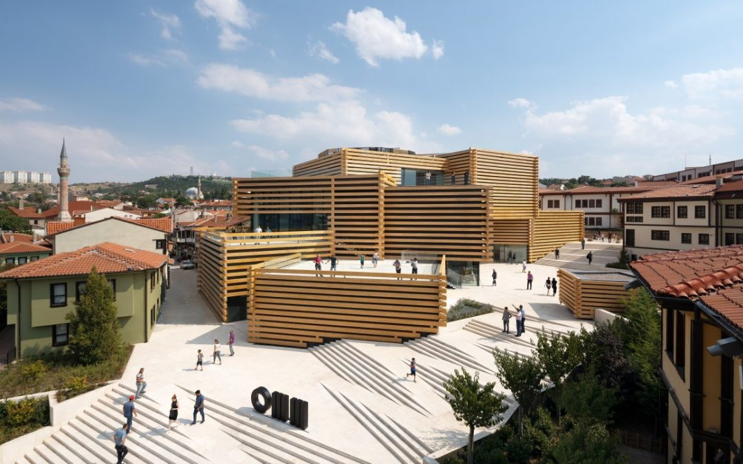 Kengo Kuma and Associates Stacks striking Timber Box Museum in Turkey