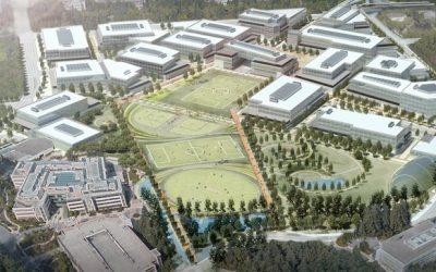 Drones Above Microsoft Revolutionize its Campus Rebuild