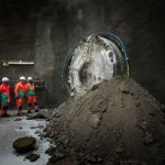 First Tideway TBM Breaks Through