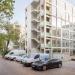FAR Constructs Wohnregal Life/work Building in Berlin Using Precast Concrete Elements