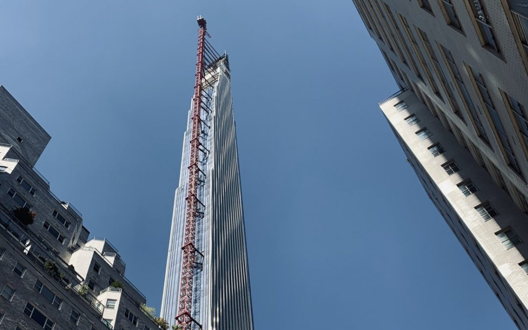 Work Nears Completion on Slim and Luxurious NYC Skyscraper