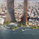 Twin Skyscrapers Dominate BIG's Nature-Friendly Waterfront Development