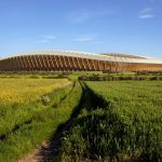 Zaha Hadid Architects' Timber Stadium Scores Planning Permission