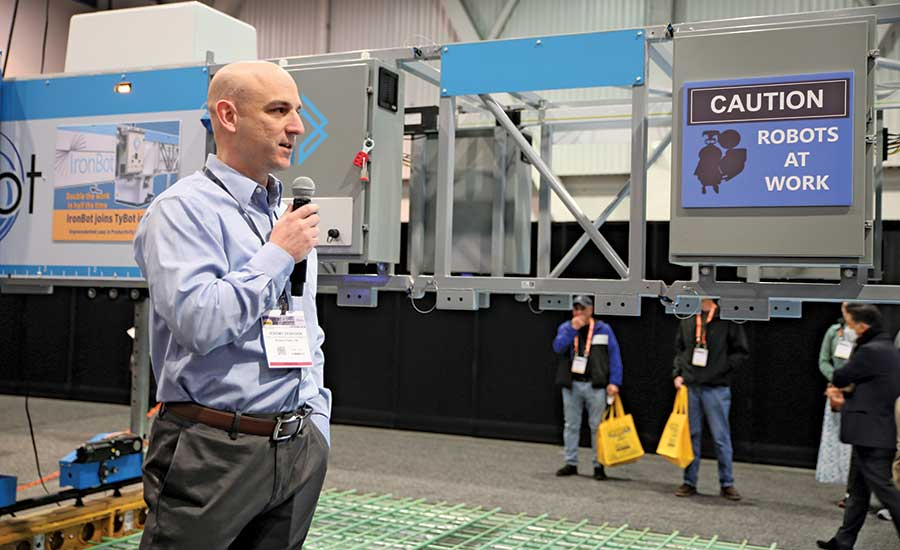 Rebar-Tying Robots Draw Crowds at World of Concrete