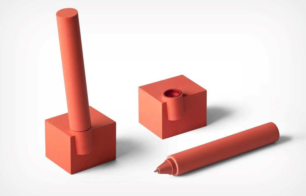 Made Out Of Concrete The Mergeerge Desk Pen Wonderfully Captures Minimal Brutalism