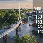 VIDEO :World's longest S-shaped, Single-tower Suspension Bridge Opens in Dublin, Ohio