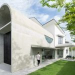 Arched Concrete Home Extension was Designed For Drama