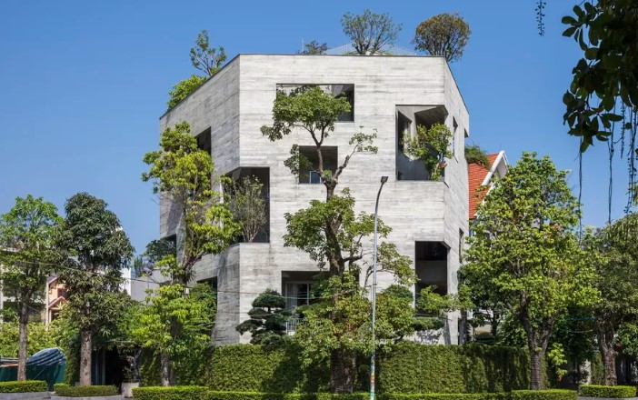 This Concrete House is Growing a Mini Forest Inside its Walls