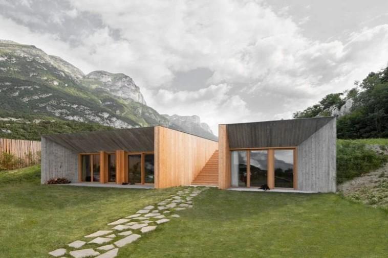 Larch Façades Clad Studio Raro's Agritour Farmhouse in Trento, Italy