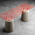 The Mesh Seating Combines Colorful Furniture Design With Brutalism
