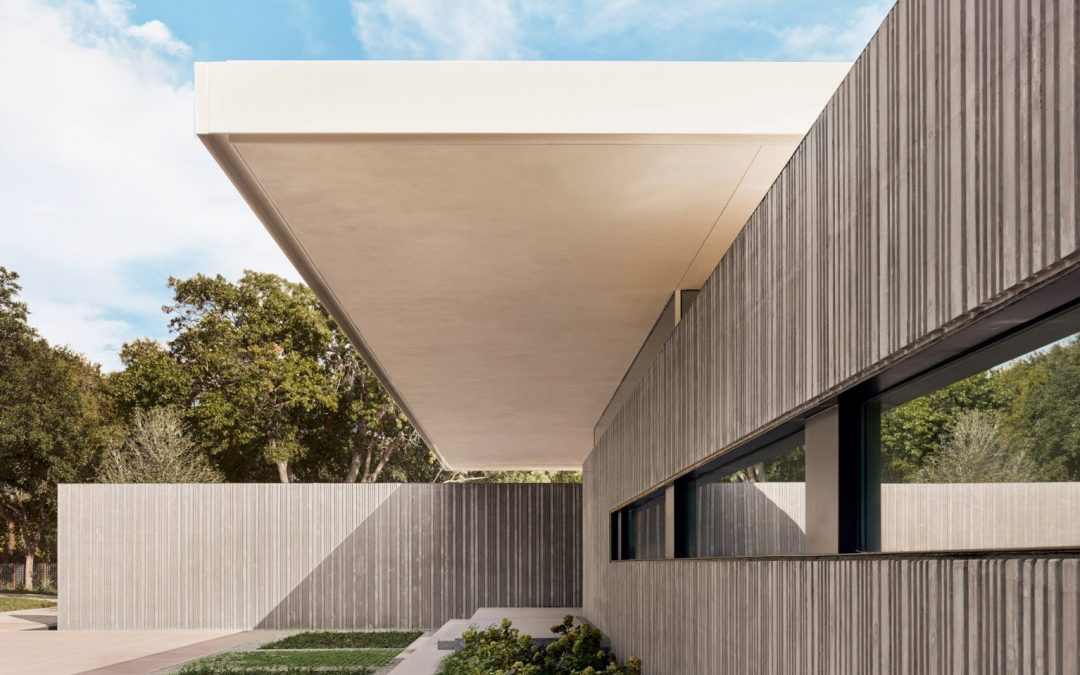Three Cast-concrete Volumes Form Preston Hollow House By Specht Architects
