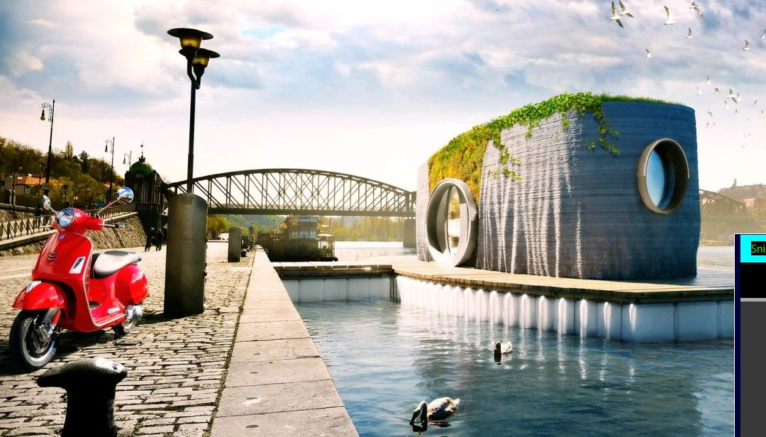 Stylish, Asymmetric Floating House will Be 3D-printed in 48 Hours