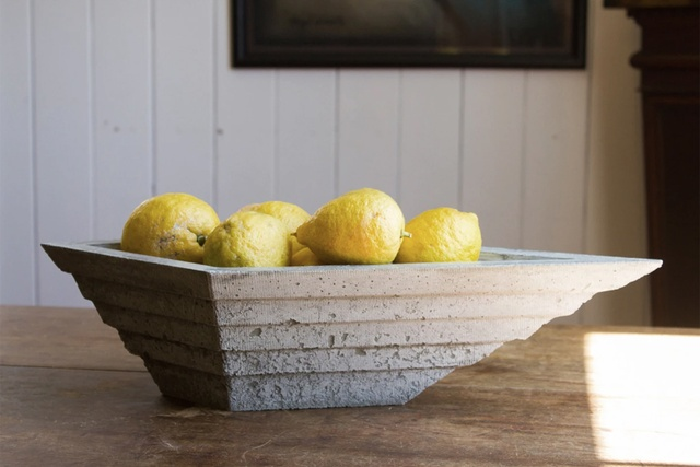 Behind the object: Terraced Concrete Bowl