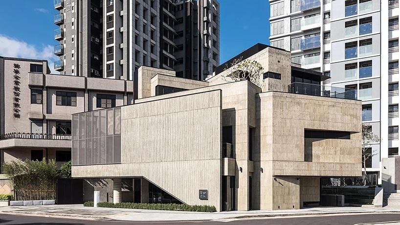 Arcadian Design Applies Bamboo Textured Facade to Polygonal Cultural Center in Taiwan