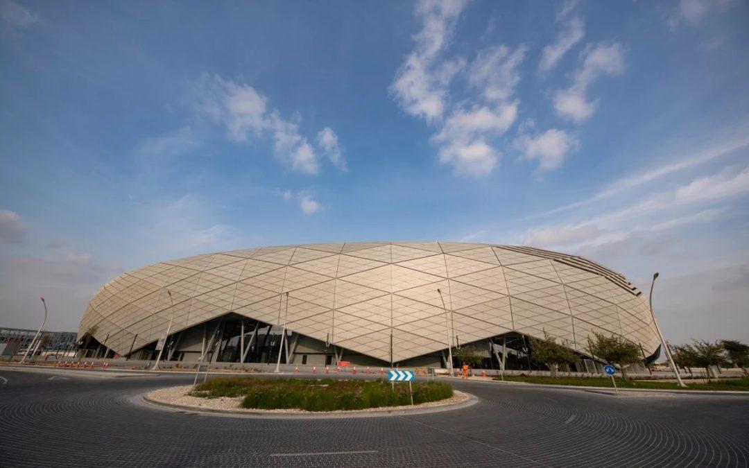 "Qatar's New ""Shimmering Diamond"" Soccer Stadium Completed"