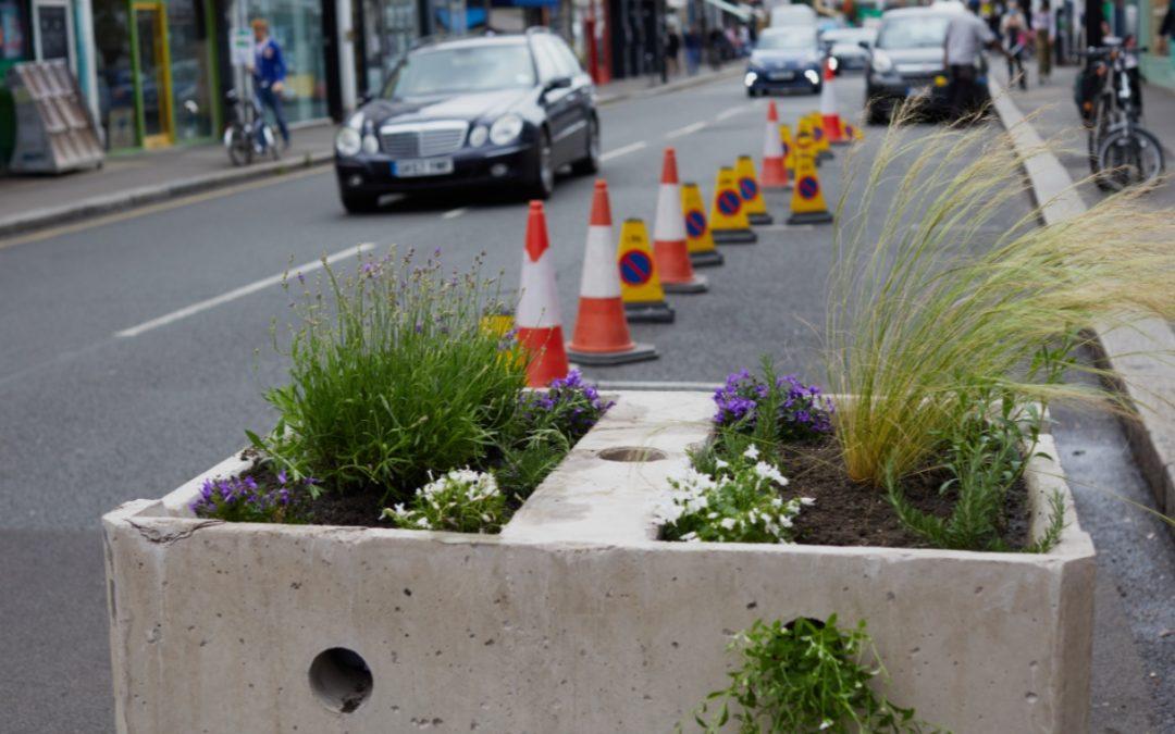 Self-watering Green Roadblocks Help Cities Implement Emergency Transport Plans
