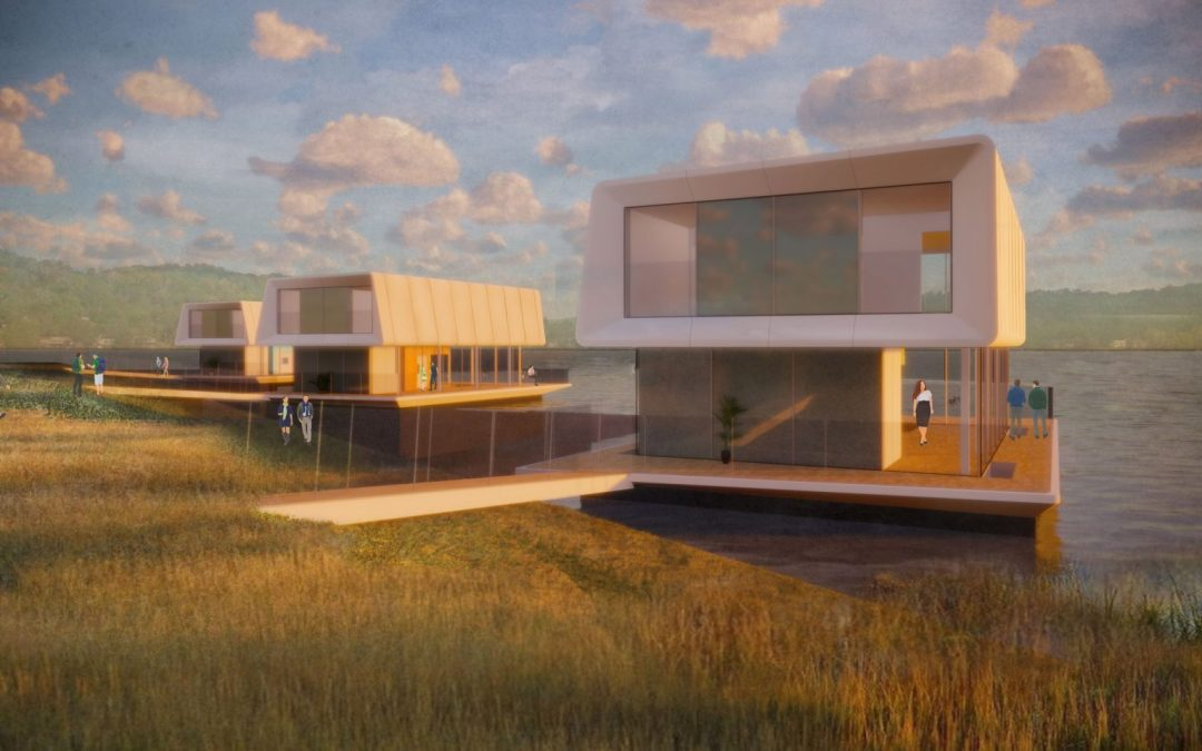 Floating Concrete Houses Proposed For Areas at Risk From Rising Sea Levels