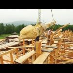 Building a Beautiful Log Home from Siberia ! Amazing Wooden House Construction Project !