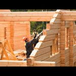 Incredible Fastest Wooden House Construction Method - Amazing Intelligent Log House Building