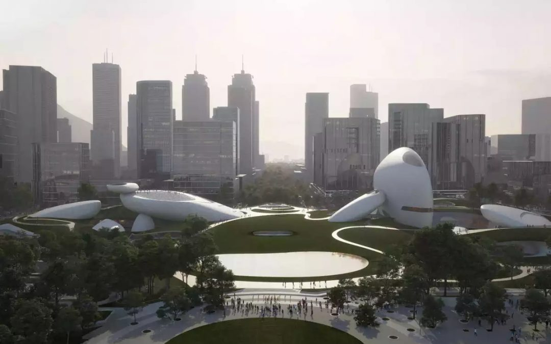 MAD's Waterfront Park Design Looks Like an Alien Outpost