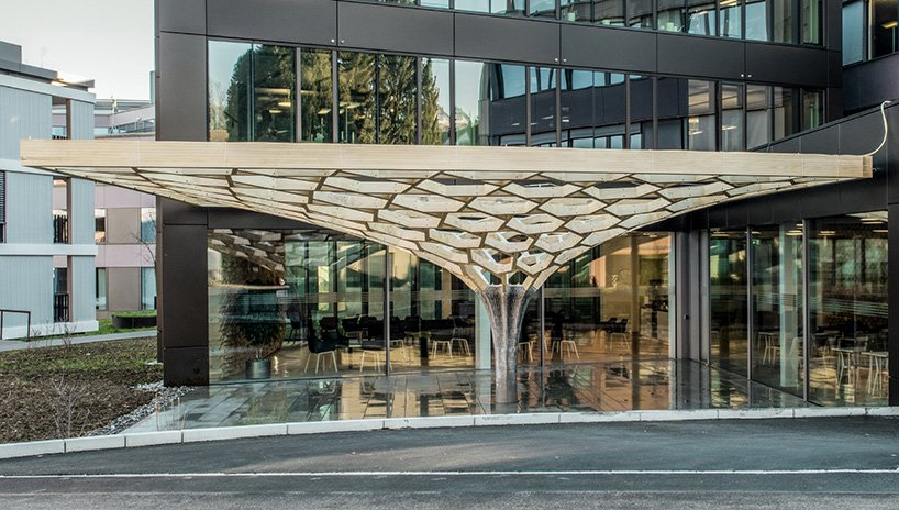 Gramazio Kohler Research, ETH Zurich Plants the 'Future tree' in a Swiss Courtyard