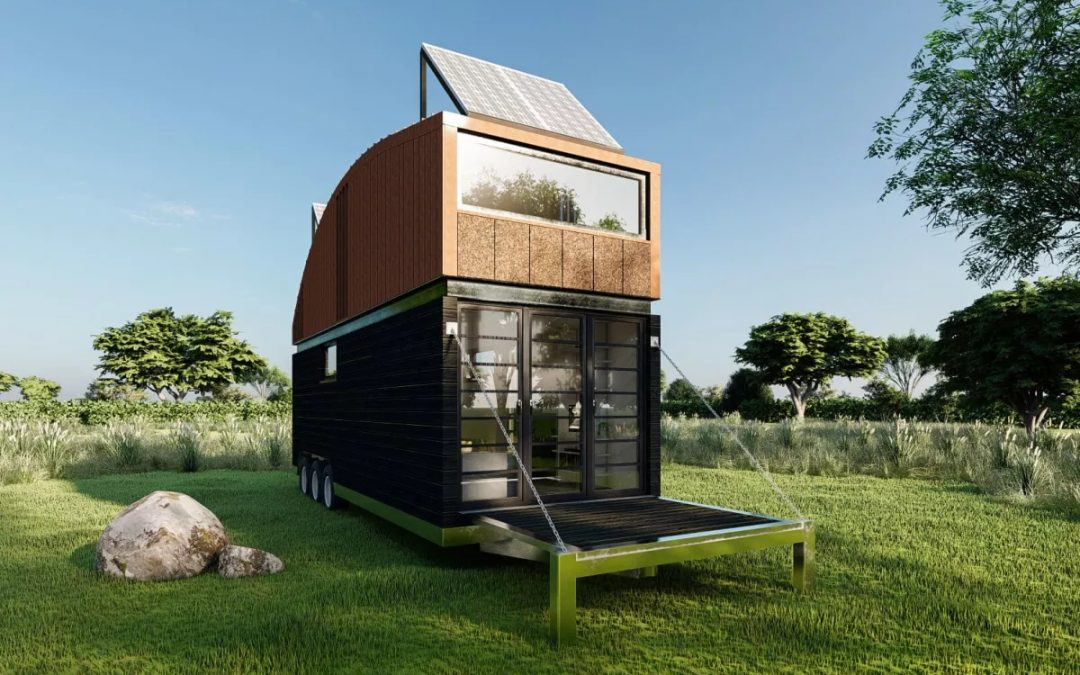 Natura Tiny House has Some Extra Headroom in Its Upstairs Bedroom
