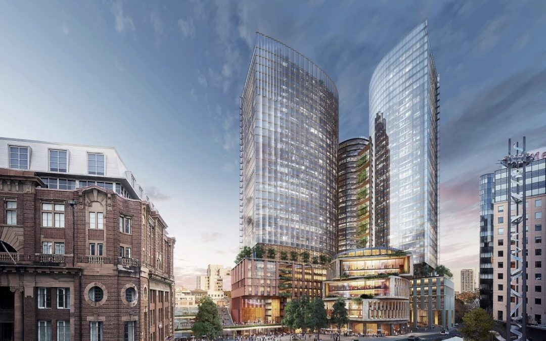 """SOM Plans Sustainable Skyscrapers for """"Australia's Silicon Valley"""""""