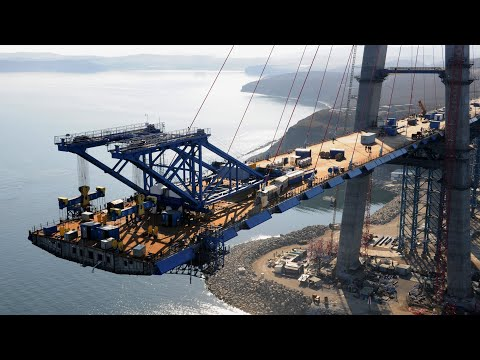 Amazing Modern Construction Technology To Complete The Longest Cable-Stayed Bridge In The World