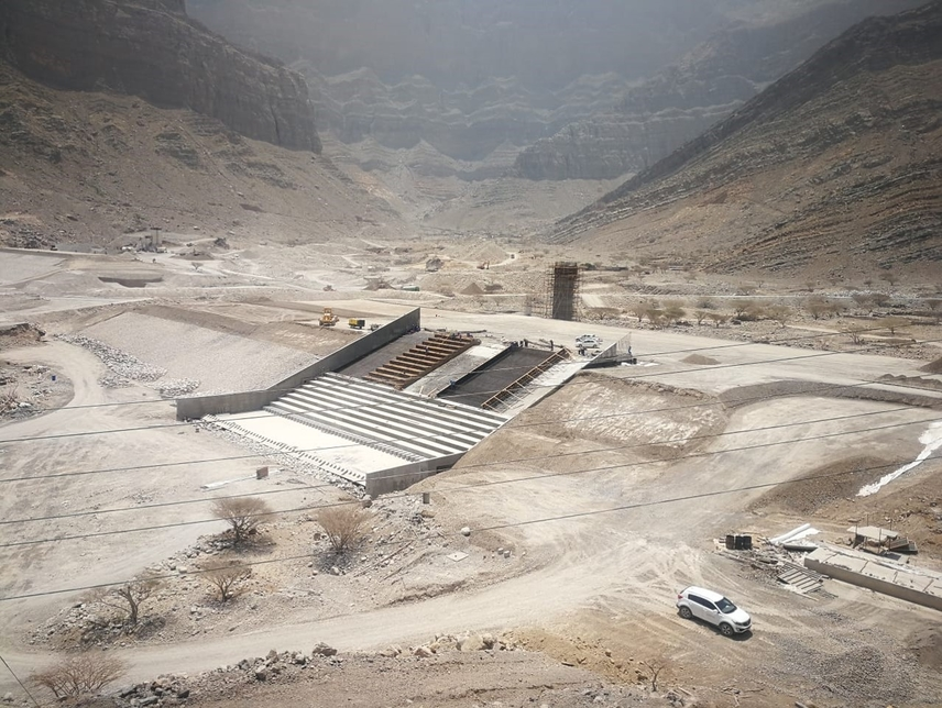 Underground Dam – Construction of Oman's Wadi Ghamada Dam project 67% complete