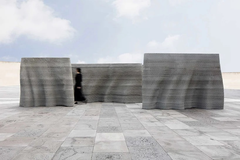 Seoul-Based Studio SWNA 3D prints Concrete to Fabricate 'the Curtained Wall