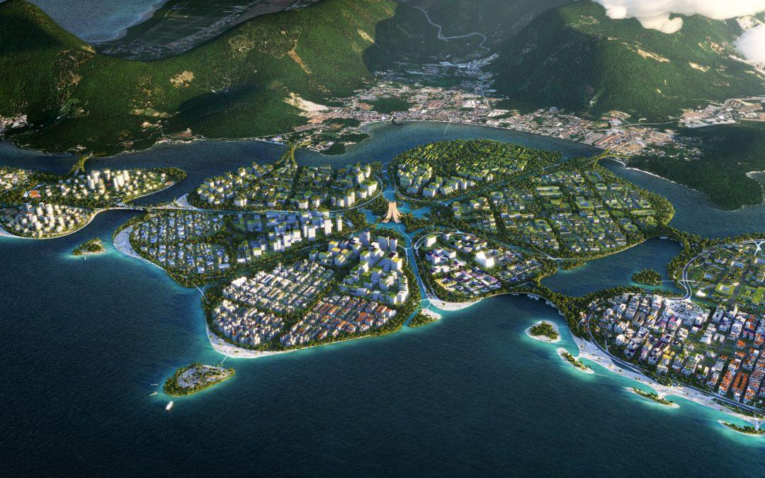 "BIG Reveals Masterplan for ""Urban Lilypads"" Off Coast of Penang Island"