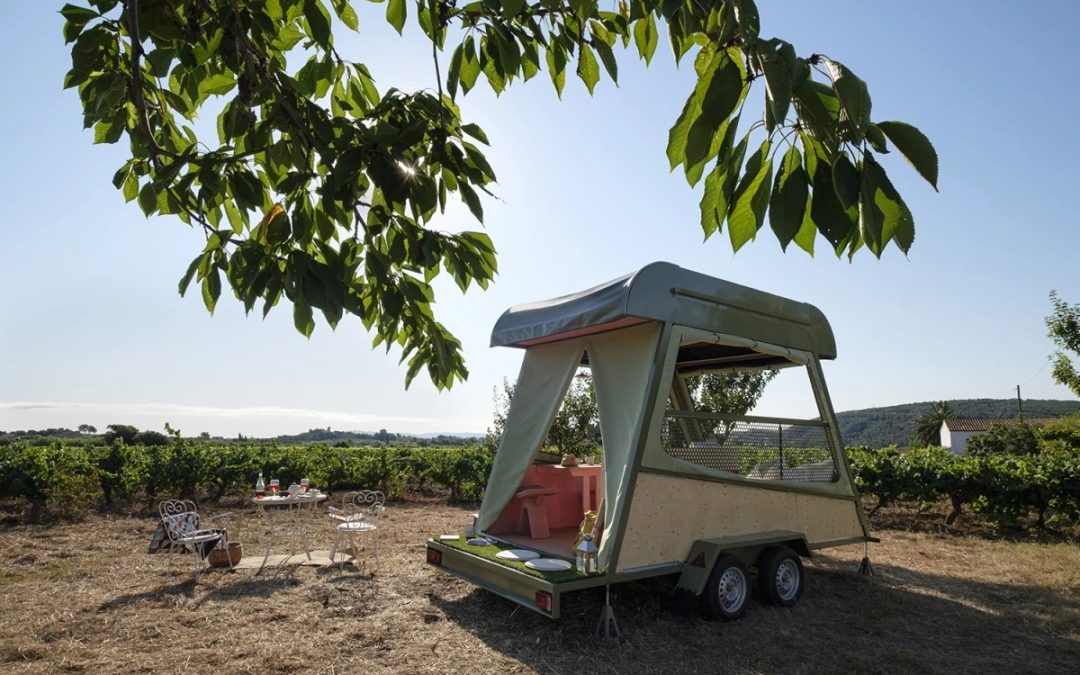 Tiny Glamping Shelter canHIt the Road and Run Off-the-grid