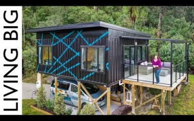 Tiny House; Stunning Modern Small Home Made From 3 x 20ft Shipping Container