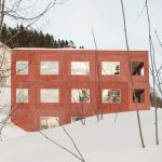 Sanden+Hodnekvam Arkitekter Creates Red Concrete House in Lillehammer