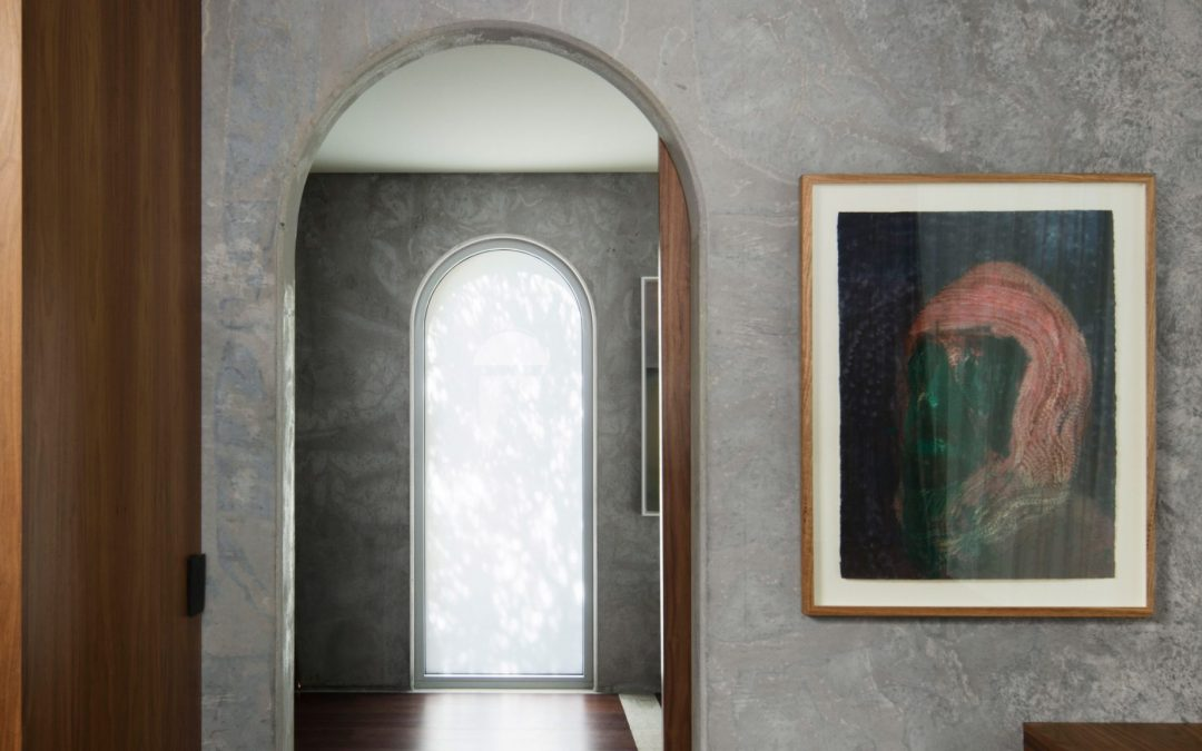 Arched Precast Concrete Panels form North Perth House by Nic Brunsdon