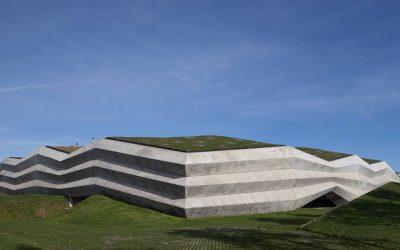 Giorgi Khmaladze Architects Enclosees Tbilisi Coffee Factory in Folded Concrete