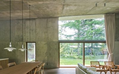 R.E.A.D.& Architects Tops 'Symbiotic House' with Sloping Concrete Roof in Karuizawa, Japan