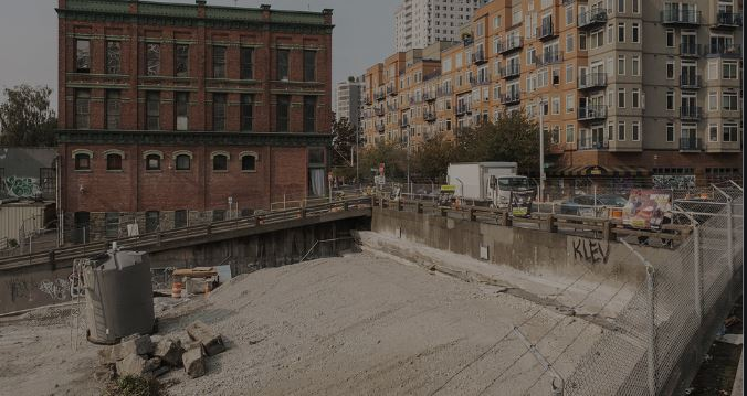 Old Battery Street Tunnel Now Completely Filled in with Viaduct Remnants