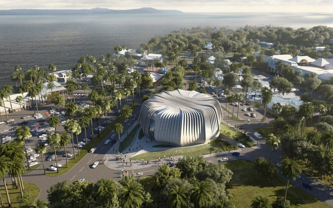 """Mushroom Corals Concrete Slab: Contreras Earl Architecture Designs """"Living Ark"""" for Coral Conservation Near Great Barrier Reef"""